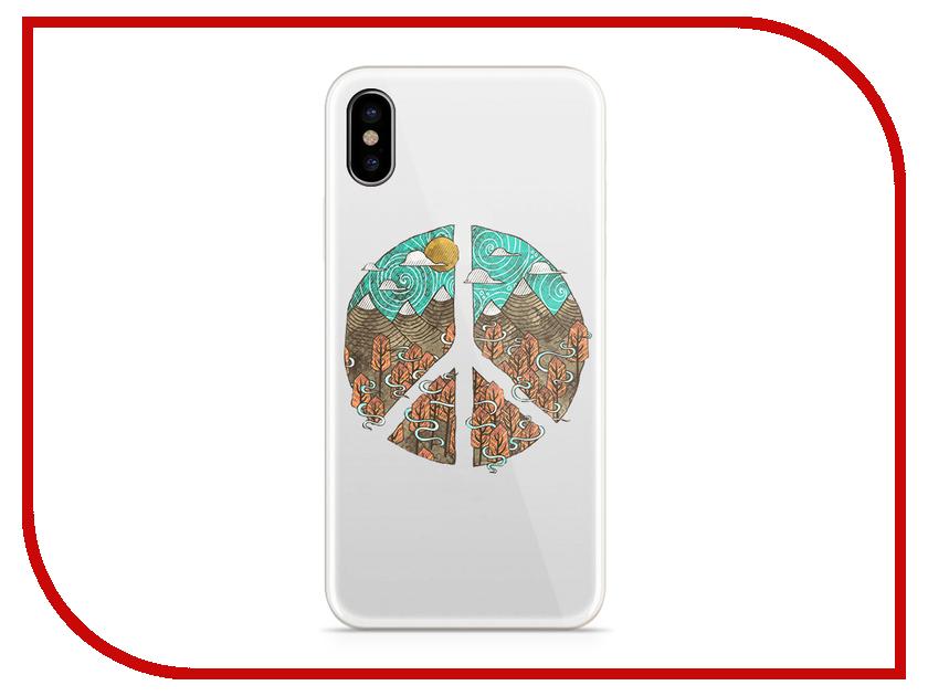 Аксессуар Чехол With Love. Moscow Silicone для Apple iPhone X Peace 5011 чехол fifa 2018 moscow для iphone x