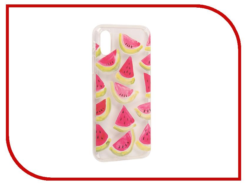 Аксессуар Чехол With Love. Moscow Silicone для Apple iPhone X Watermelon 3 5017 чехлы для телефонов with love moscow силиконовый дизайнерский чехол для meizu m3s перья