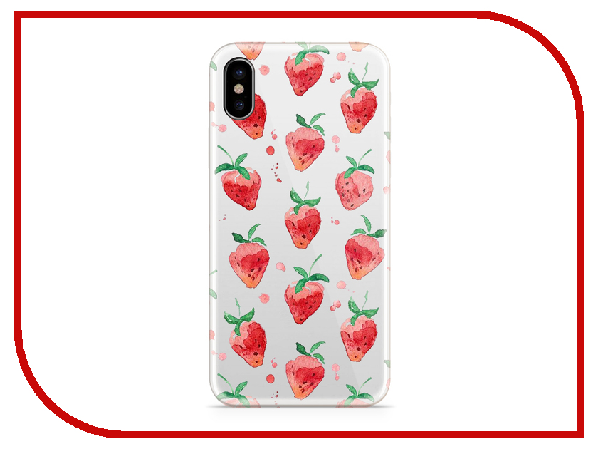 Аксессуар Чехол With Love. Moscow Silicone для Apple iPhone X Strawberry 5032 чехол fifa 2018 moscow для iphone x
