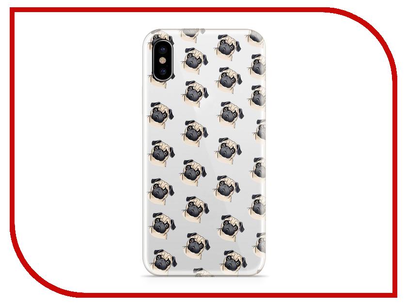 Аксессуар Чехол With Love. Moscow Silicone для Apple iPhone X Pugs 5040 аксессуар чехол with love moscow silicone для apple iphone x rainbow 5046