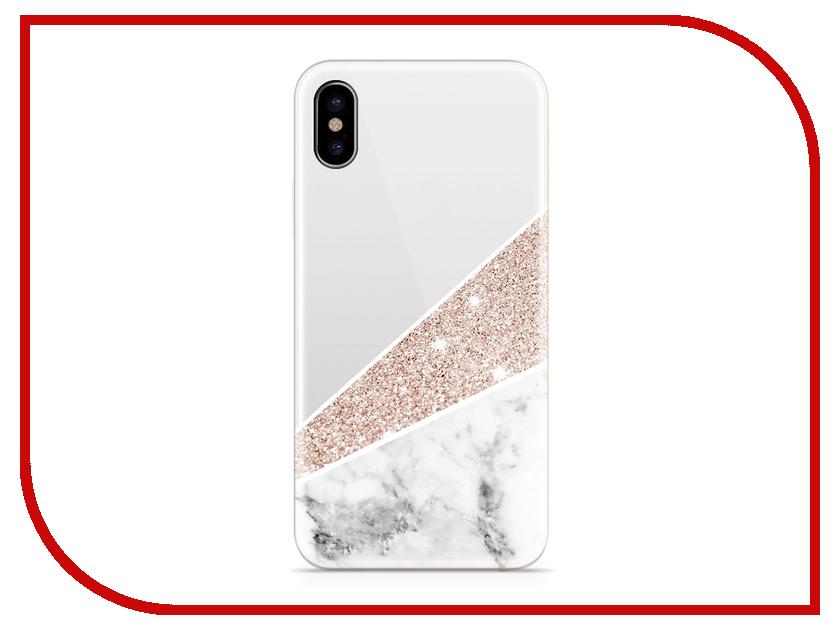 Аксессуар Чехол With Love. Moscow Silicone для Apple iPhone X Marble 5041 аксессуар чехол with love moscow silicone для apple iphone x rainbow 5046