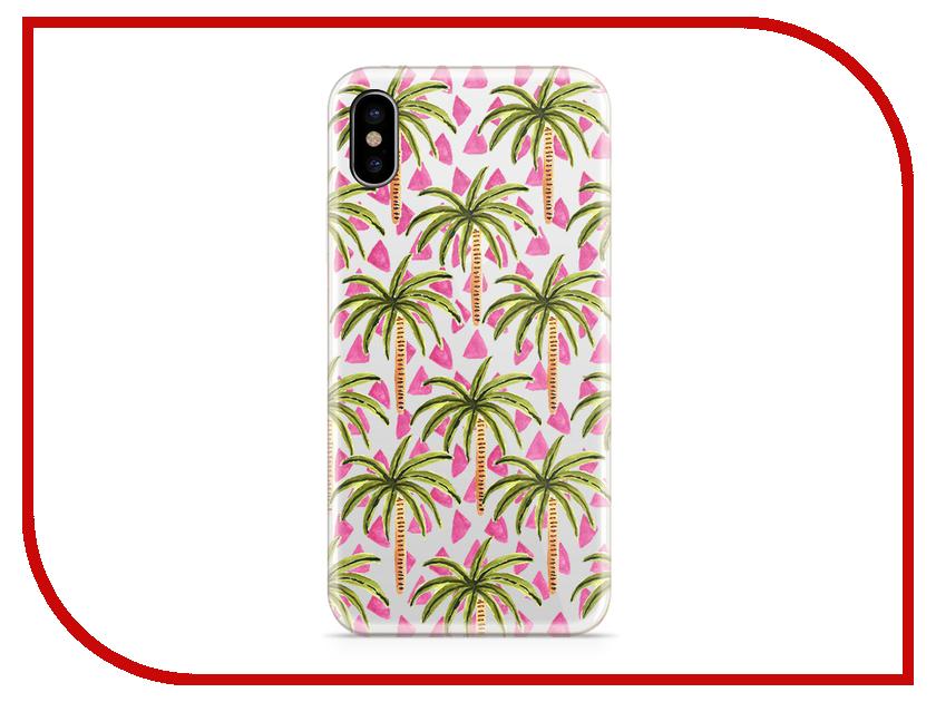 Аксессуар Чехол With Love. Moscow Silicone для Apple iPhone X Palm 5042 аксессуар чехол with love moscow silicone для apple iphone x rainbow 5046