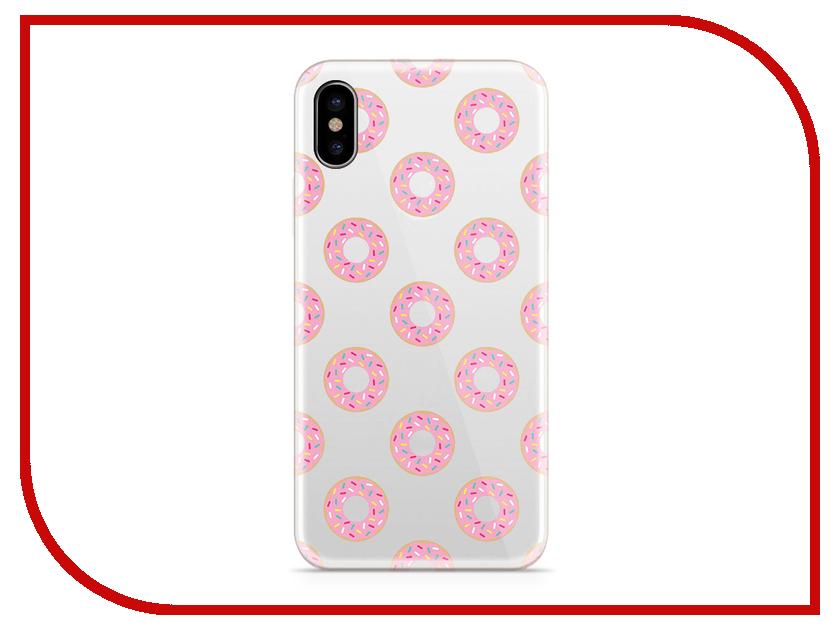 Аксессуар Чехол With Love. Moscow Silicone для Apple iPhone X Donuts 5045 аксессуар чехол with love moscow silicone для apple iphone x rainbow 5046