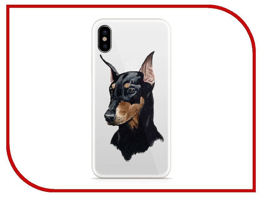 Аксессуар Чехол With Love. Moscow Silicone для Apple iPhone X Dog 5048 big plush pink sitting dog toy soft cartoon dog doll with scarf gift about 50cm