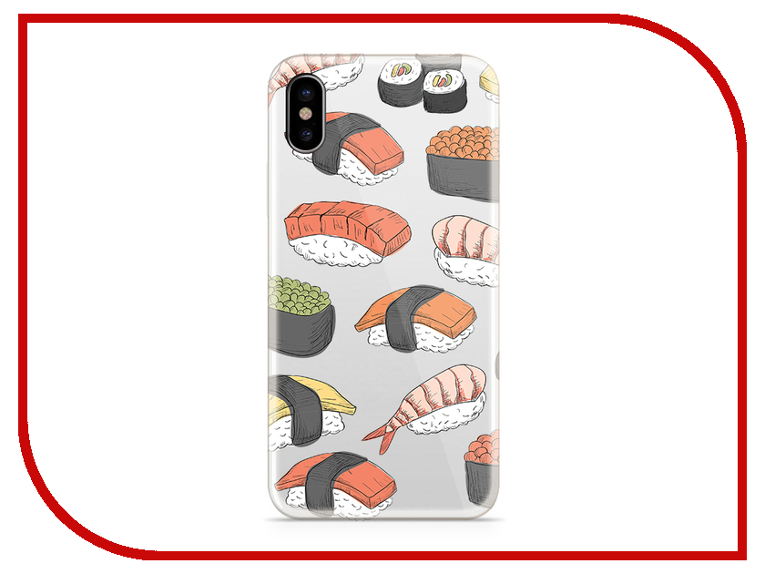Аксессуар Чехол With Love. Moscow Silicone для Apple iPhone X Sushi 5049 stylish sushi tool vegetables combine with meat sushi machine