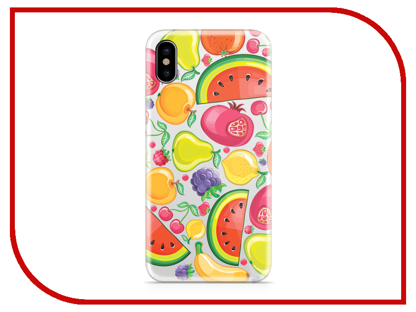 Аксессуар Чехол With Love. Moscow Silicone для Apple iPhone X Fruit 5050 artificial foam decorative fruit simulation apple