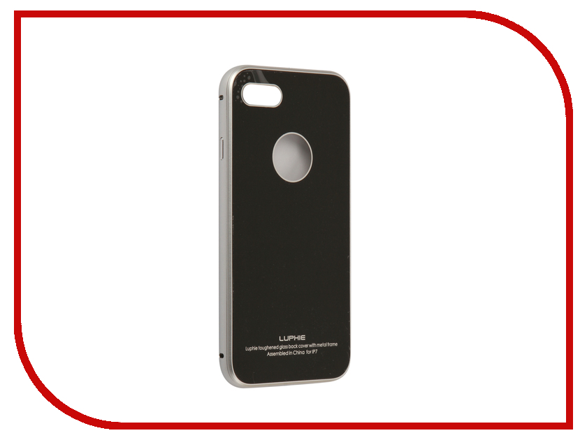 Аксессуар Чехол Luphie Circle Arc Toughened Glass Back для iPhone 7 Silver-Black PX/LUPH-IPH7-CATGB-sb аккумулятор iphone 5 palmexx 1440mah px iph 5