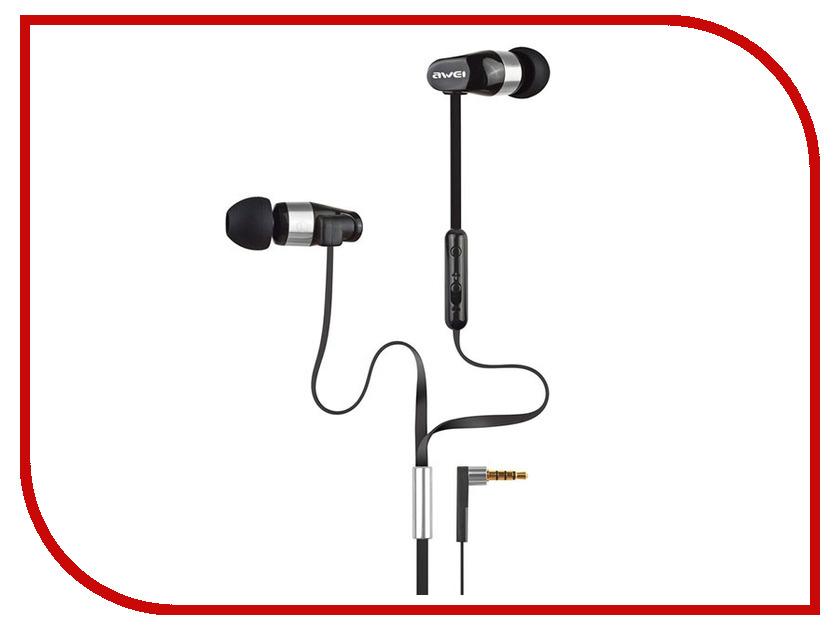 Awei ES-12Hi Black awei es 860hi hifi in ear wired metal earphones with mic red