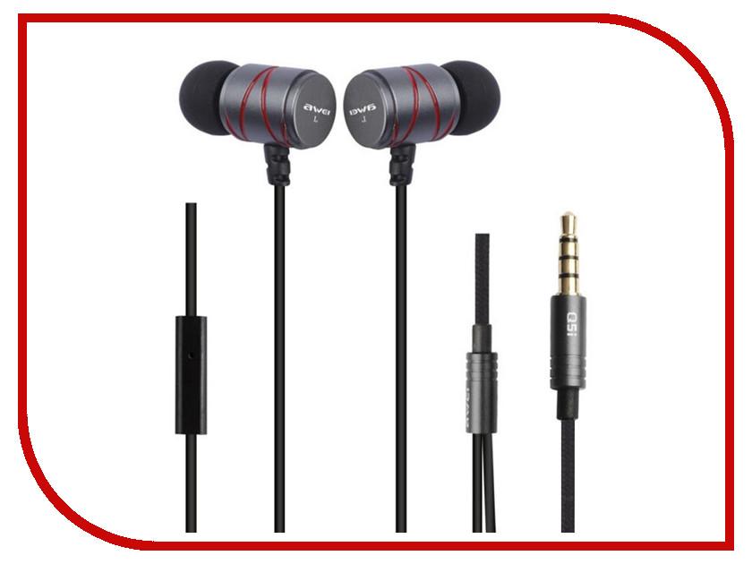 Awei Q5i Grey genuine awei in ear earphone w microphone for iphone 3gs 4 4s ipad black