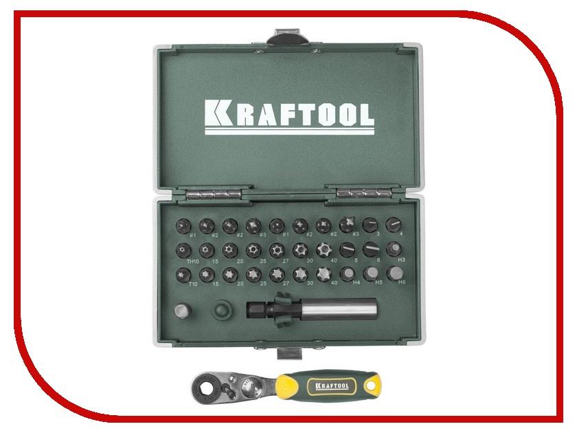 Бита Kraftool X-Drive 33шт 26065-H33 клещи переставные kraftool kraft max 22011 10 25