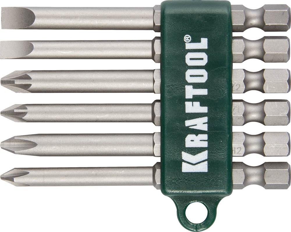 Набор бит Kraftool 6шт 26061-H6 цены