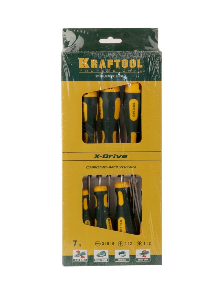 Набор отверток Kraftool X-Drive 250081-H7