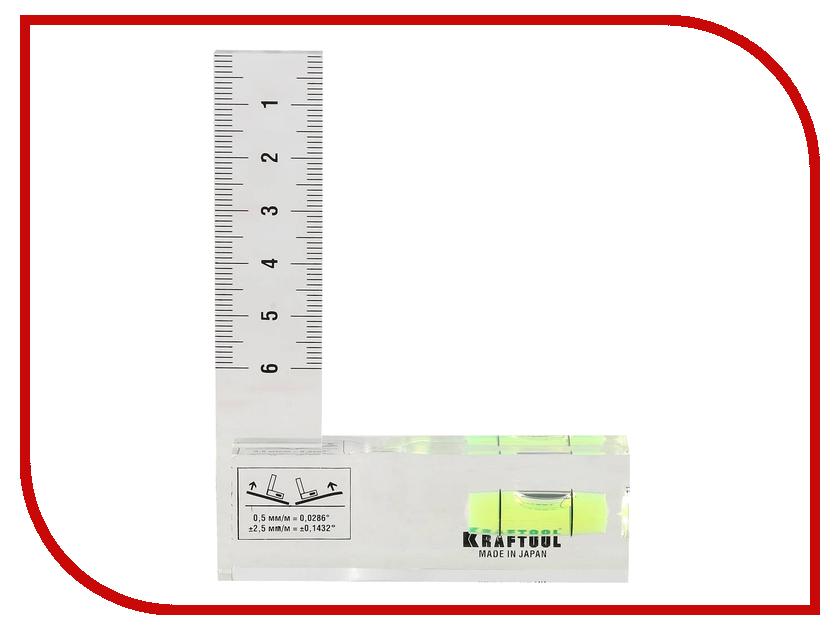 Угольник-уровень Kraftool Pro Crystal 1-34867