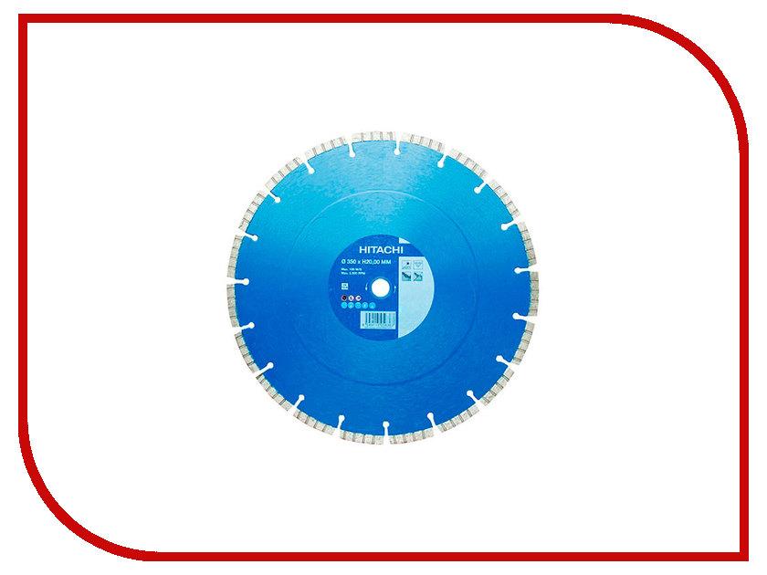 Диск Hitachi 773014 алмазный отрезной по бетону 350x20.0mm диск отрезной алмазный турбо 115х22 2mm 20006 ottom 115x22 2mm