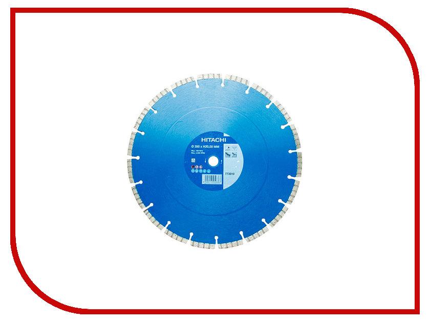 Диск Hitachi 773010 алмазный отрезной по бетону 350x20.0mm диск отрезной алмазный турбо 115х22 2mm 20006 ottom 115x22 2mm