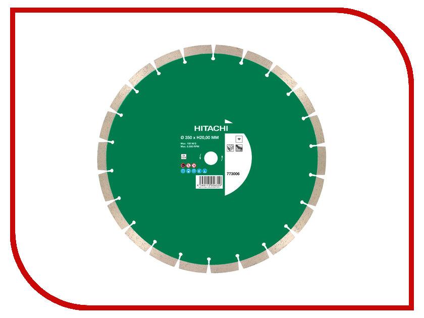 Диск Hitachi 773006 алмазный отрезной, универсальный 350x3.2x20/25.4mm диск отрезной дремель