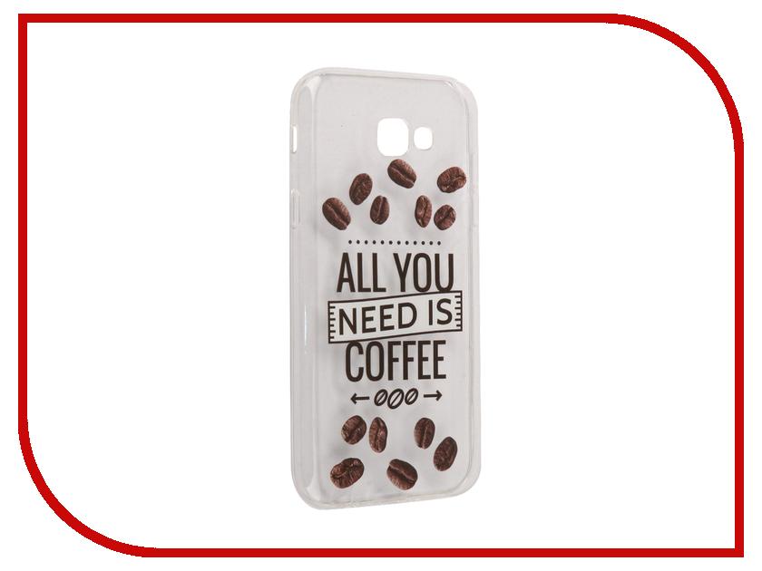 Аксессуар Чехол Samsung Galaxy A7 2017 With Love. Moscow Silicone Coffee 5057 аксессуар чехол samsung galaxy a7 2017 with love moscow silicone russia 5090