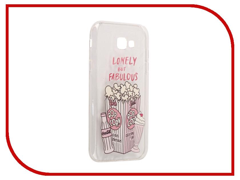 Аксессуар Чехол Samsung Galaxy A7 2017 With Love. Moscow Silicone Popcorn 5069