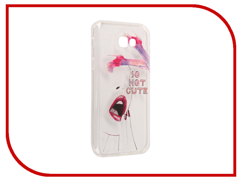 Аксессуар Чехол Samsung Galaxy A7 2017 With Love. Moscow Silicone So Not Cute 5070 аксессуар чехол samsung galaxy a7 2017 with love moscow silicone russia 5090