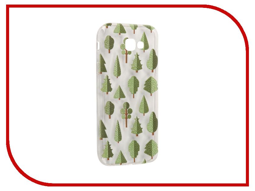 Аксессуар Чехол Samsung Galaxy A7 2017 With Love. Moscow Silicone Trees 5083