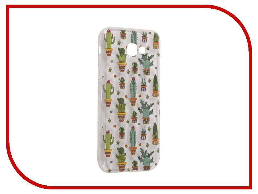Аксессуар Чехол Samsung Galaxy A7 2017 With Love. Moscow Silicone Cactus 5084