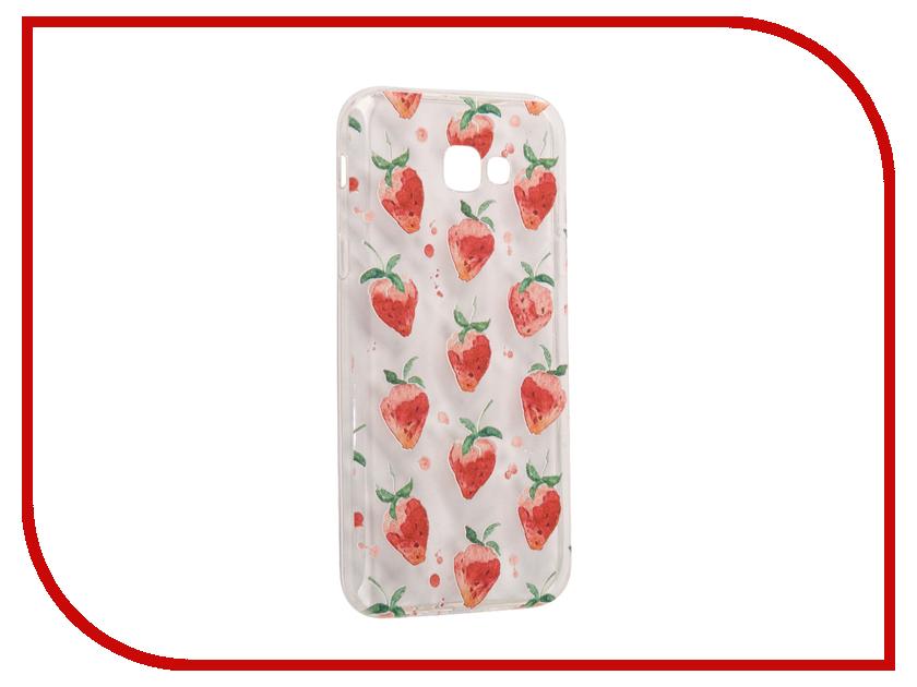 Аксессуар Чехол Samsung Galaxy A7 2017 With Love. Moscow Silicone Strawberry 5088