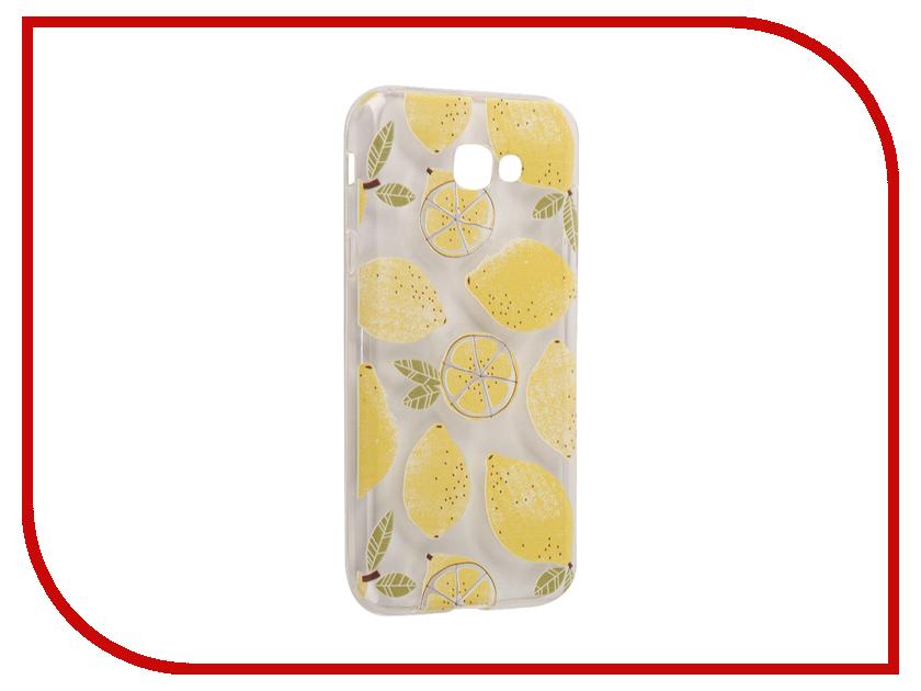 Аксессуар Чехол Samsung Galaxy A7 2017 With Love. Moscow Silicone Lemons 5093