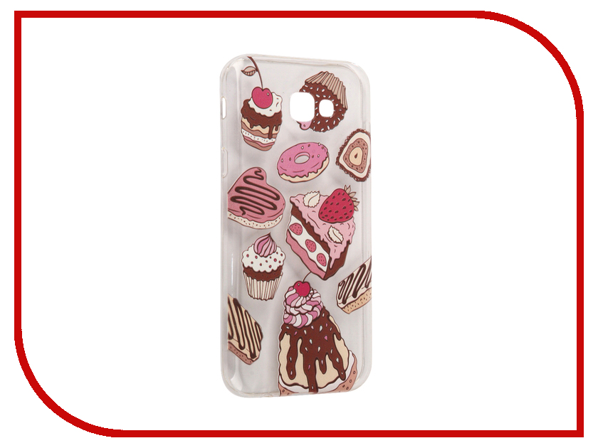 Аксессуар Чехол Samsung Galaxy A7 2017 With Love. Moscow Silicone Sweets 5103