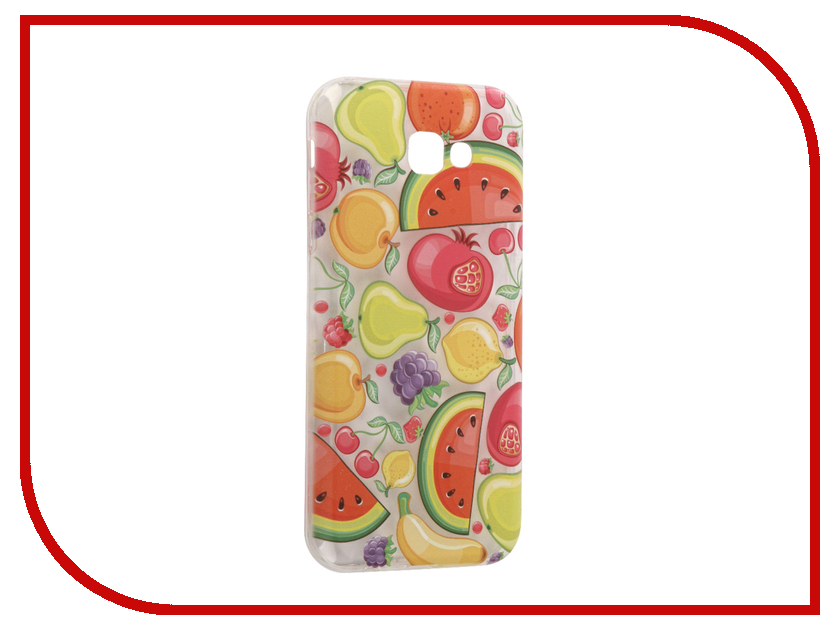 Аксессуар Чехол Samsung Galaxy A7 2017 With Love. Moscow Silicone Fruit 5106 аксессуар чехол samsung galaxy j7 2017 with love moscow silicone palm 5210
