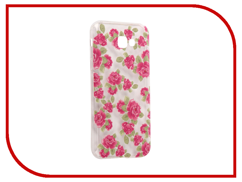 Аксессуар Чехол Samsung Galaxy A7 2017 With Love. Moscow Silicone Flower 5 5109