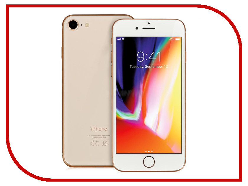 Сотовый телефон APPLE iPhone 8 - 64Gb Gold MQ6J2RU/A сотовый телефон apple iphone 8 plus 64gb space gray mq8l2ru a