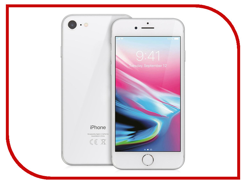 Сотовый телефон APPLE iPhone 8 - 64Gb Silver MQ6H2RU/A сотовый телефон apple iphone 8 plus 64gb space gray mq8l2ru a