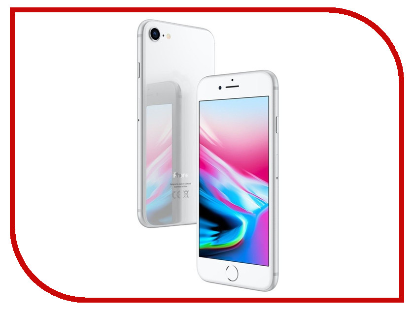 Сотовый телефон APPLE iPhone 8 - 256Gb Silver MQ7D2RU/A сотовый телефон apple iphone 8 plus 64gb silver mq8m2ru a