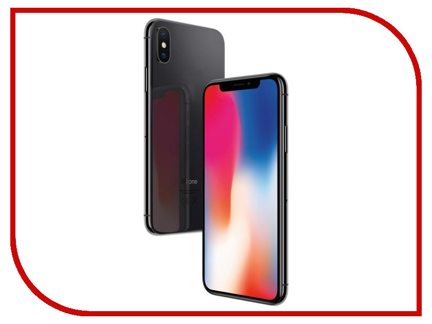 Сотовый телефон APPLE iPhone X - 256Gb Space Gray MQAF2RU/A смартфон apple iphone x 256 гб серый mqaf2ru a