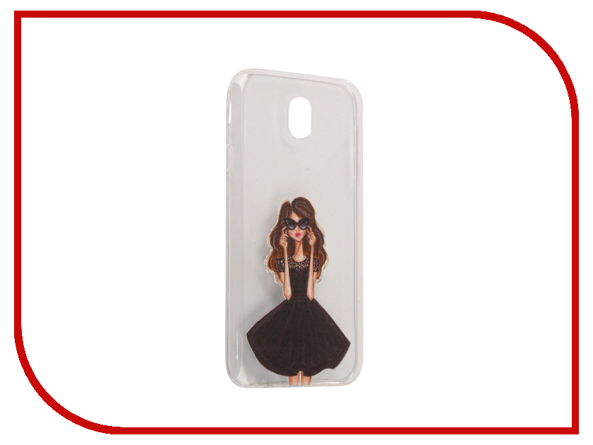 Аксессуар Чехол Samsung Galaxy J7 2017 With Love. Moscow Silicone Girl in a Dress 5193 аксессуар чехол samsung galaxy a7 2017 with love moscow silicone lips 5080
