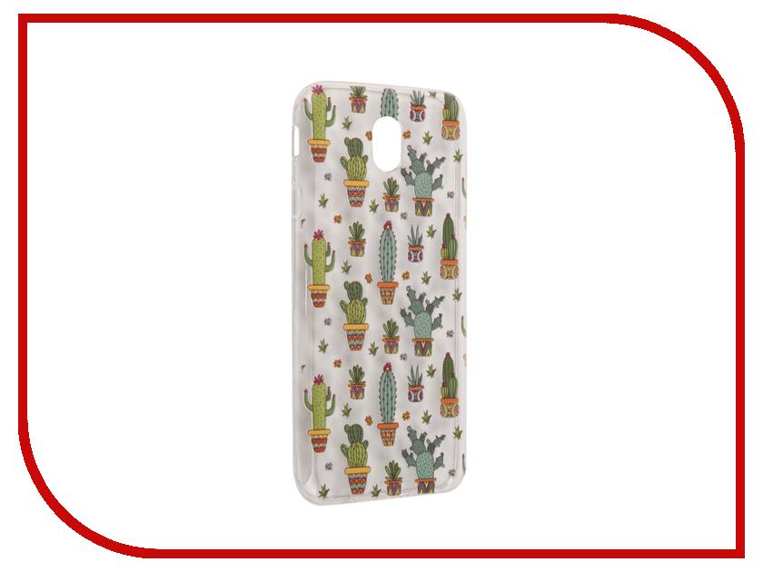 Аксессуар Чехол Samsung Galaxy J7 2017 With Love. Moscow Silicone Cactus 5196