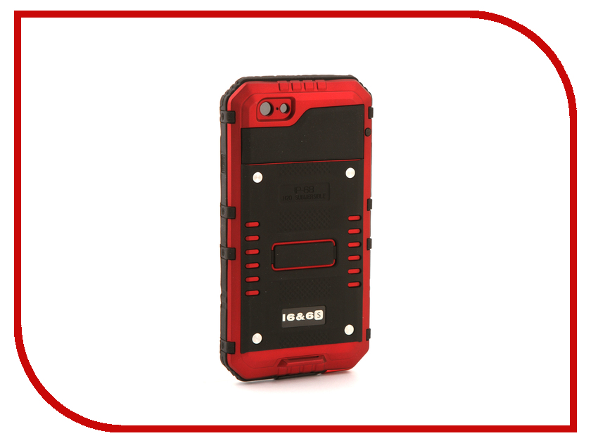 Аксессуар Чехол Luphie для iPhone 6 / 6S Wolf Warrior Red PX/LUPH-IPH6-WW rd аксессуар чехол elari для elari cardphone и iphone 6 plus blue