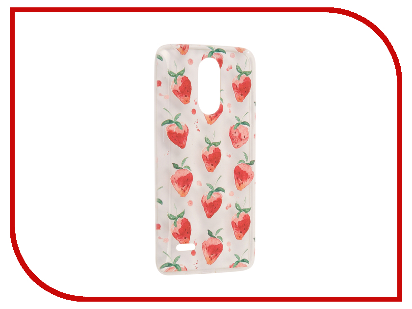 Аксессуар Чехол LG K10 2017 / K20 Plus With Love. Moscow Silicone Strawberry 5592 чехлы для телефонов with love moscow силиконовый дизайнерский чехол для meizu m3s перья
