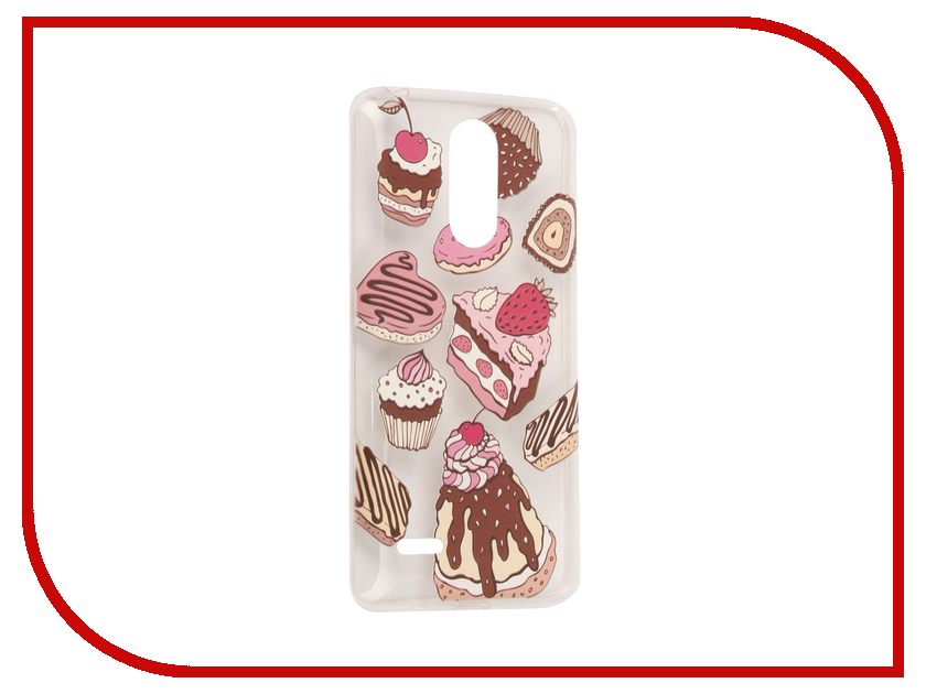 для LG 5607  Аксессуар Чехол LG K10 2017 / K20 Plus With Love. Moscow Silicone Sweets 5607