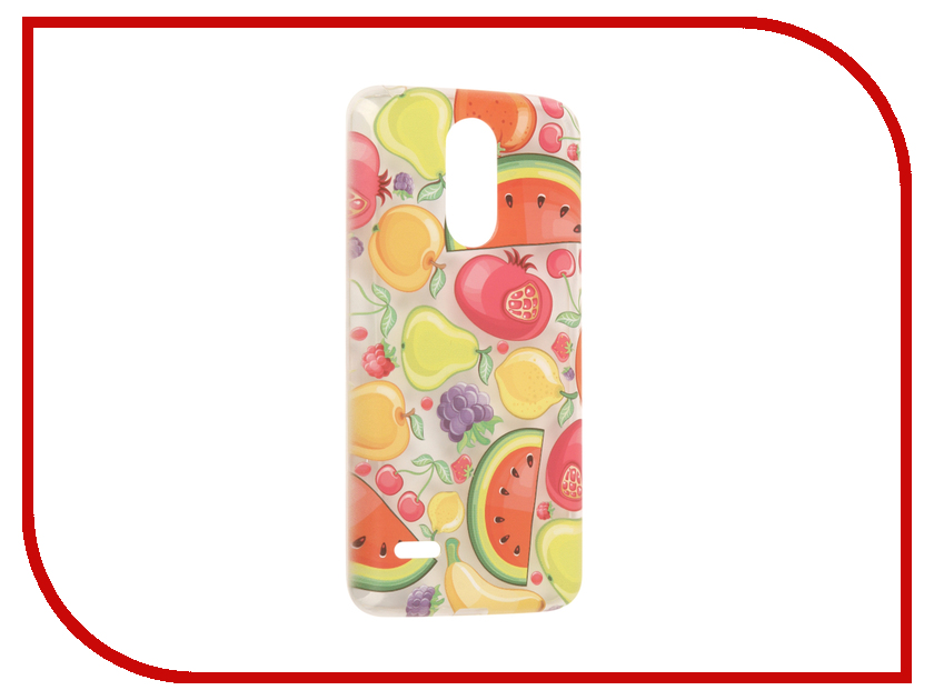 для LG 5610  Аксессуар Чехол LG K10 2017 / K20 Plus With Love. Moscow Silicone Fruit 5610