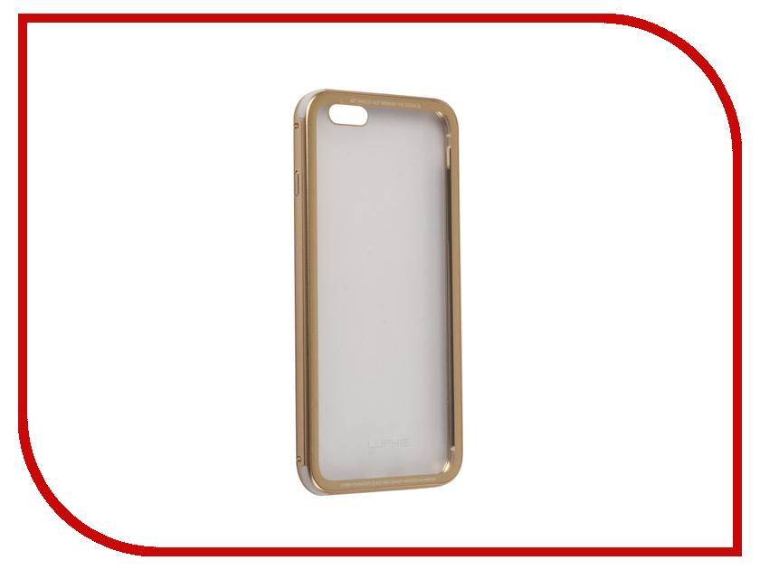 Аксессуар Чехол Luphie для iPhone 6 Plus Toughened Glass Protection Gold PX/LUPH-IPH6P-CATGB-g цена и фото