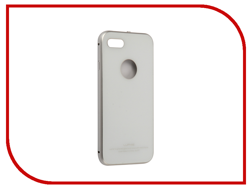 Аксессуар Чехол Luphie для iPhone 7 Circle Arc Toughened Glass Back White-Silver PX/LUPH-IPH7-CATGB-ws luphie combo tough aluminium alloy armor case for iphone 6s 4 7 inch black