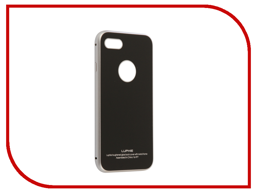 Аксессуар Чехол Luphie для iPhone 7 Circle Arc Toughened Glass Back Silver-Black PX/LUPH-IPH7-CATGB-sb luphie combo tough aluminium alloy armor case for iphone 6s 4 7 inch black