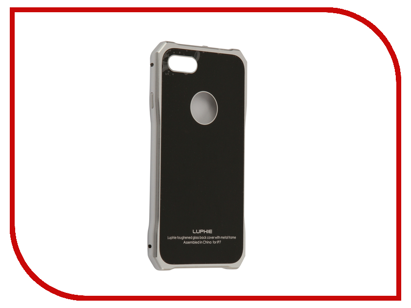 Аксессуар Чехол Luphie для iPhone 7 Toughend Glass Back + Metal Frame Silver-Black PX/LUPH-IPH7-TGBMF-sb luphie combo tough aluminium alloy armor case for iphone 6s 4 7 inch black