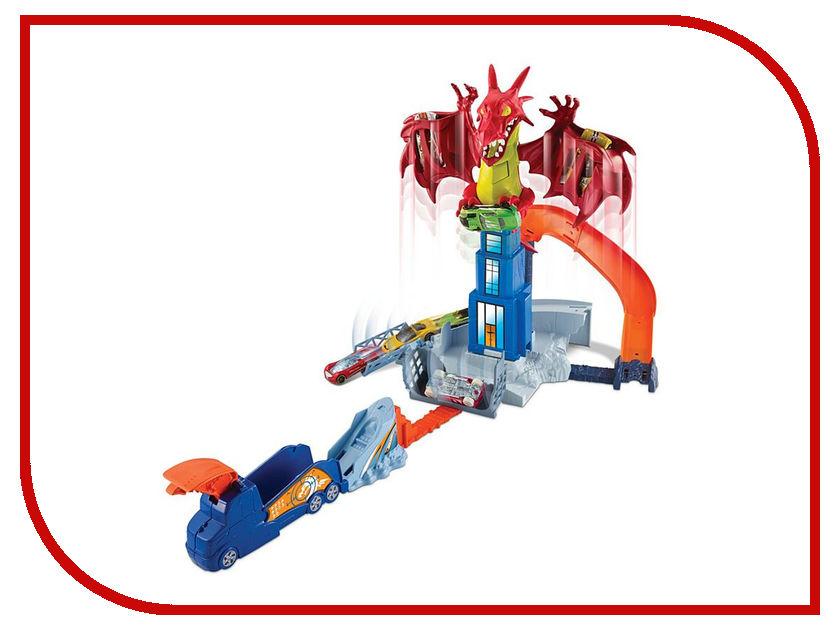 Автотрек Mattel Hot Wheels Битва с драконом DWL04 mattel ранец школьный hot wheels big foot multi pack mini