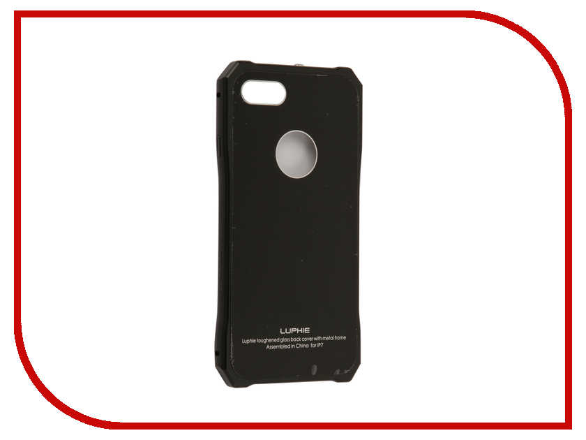 Аксессуар Чехол Luphie для iPhone 7 Toughend Glass Back + Metal Frame Black-Black PX/LUPH-IPH7-TGBMF-bb luphie combo tough aluminium alloy armor case for iphone 6s 4 7 inch black