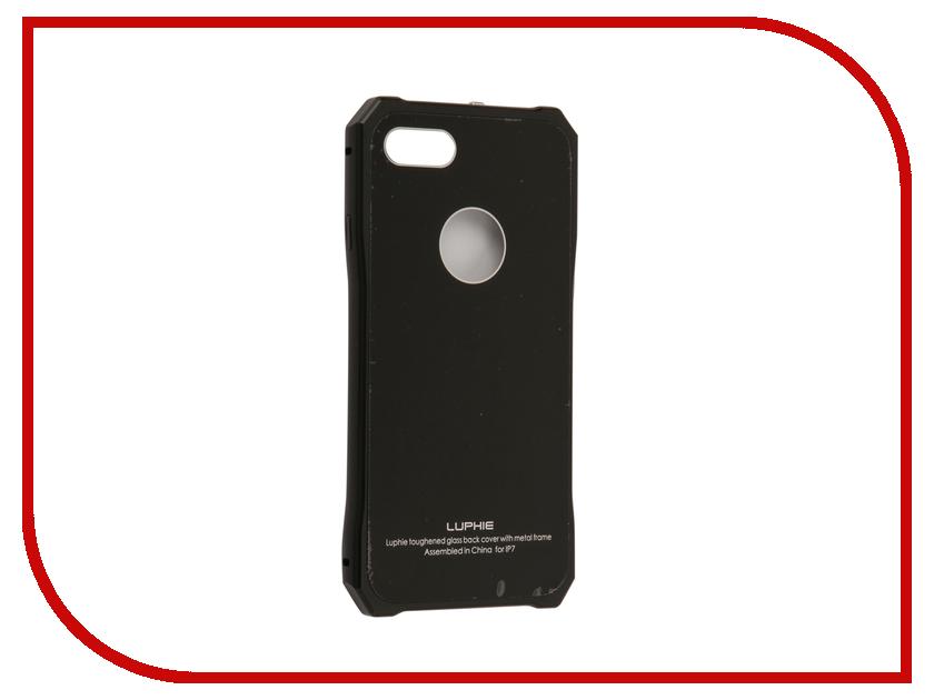 Аксессуар Чехол Luphie для iPhone 7 Toughend Glass Back + Metal Frame Black-Black PX/LUPH-IPH7-TGBMF-bb аксессуар чехол uag plasma cobalt для apple iphone 7 blue iph7 6s l cb