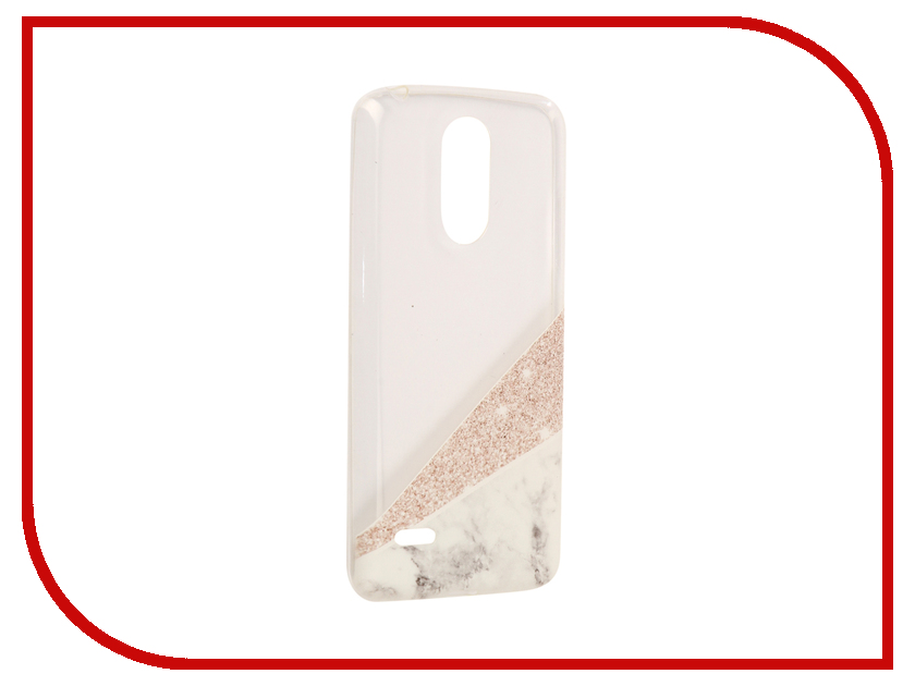 Аксессуар Чехол для LG K8 2017 With Love. Moscow Silicone Marble 5657