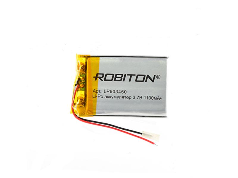 Аккумулятор LP603450 - Robiton 3.7V 1100mAh PK1 LP1100-603450 14692
