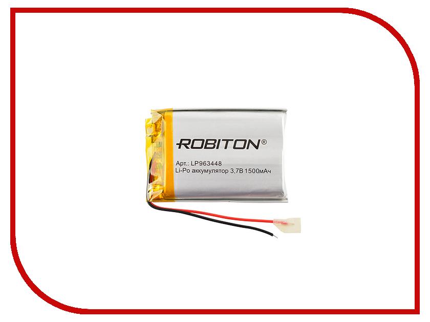 Аккумулятор LP963448 - Robiton 3.7V 1500mAh PK1 LP1500-963448 14693 аккумулятор 2500 mah robiton lgc2500 18650 1 шт